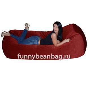 Бескаркасный диван Cushion grand Бордовый