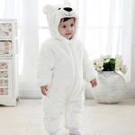 Плюшевый комбинезон Белый медведь (осень-зима) 4 размера