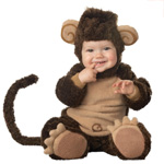 Мохнатый костюм Обезьянка с ушками для фотосессий 70-80 см