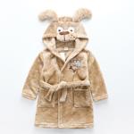 Плюшевый мягкий халат с капюшоном Собачка от 1 до 7 лет