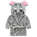 Плюшевый мягкий халат с капюшоном Слоненок от 1 до 7 лет