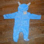 Меховой комбинезон с ушками Голубой кролик 90 см