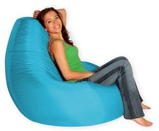 Кресло груша Summer city L голубой